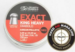 JSB Exact King Heavy MkII 33.95 Grain .25 Caliber Pellet Test Review