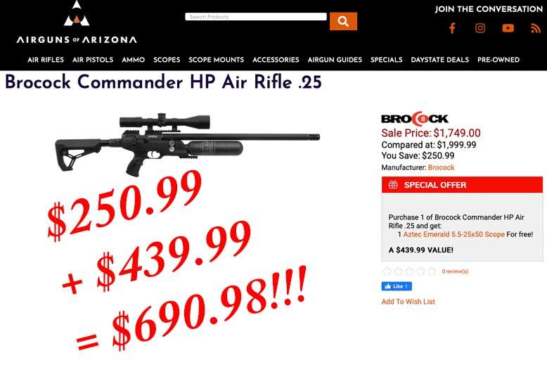 Brocock Commander Deals Now At Airguns Of Arizona