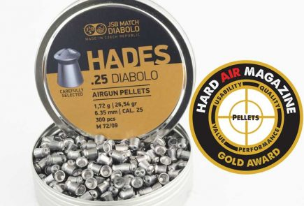 JSB Hades 26.54 Grain .25 Caliber Pellet Test Review