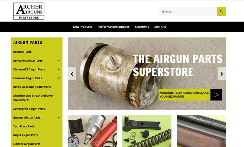 New Airgun Parts Website Makes Ordering Easy