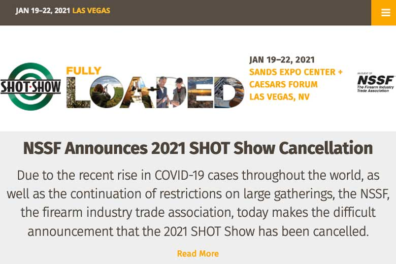 The 2021 SHOT Show Has Been Cancelled
