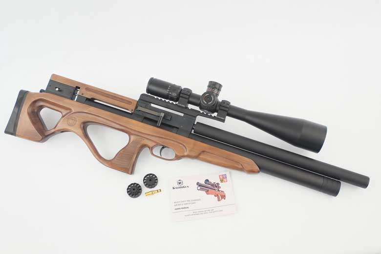 Just arrived at the HAM offices - courtesy of Airguns of Arizona - is a new KalibrGun Cricket II air rifle. So of course, I had to take a look at this new model asap - in spite of the cold weather!