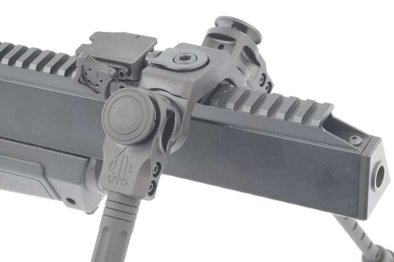 The UTG Over Bore Bipod Is A Great Way To Support A Bulldog